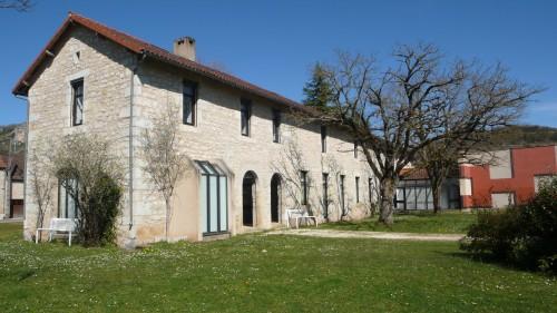 Le Centre d'art contemporain, Cajarc, côté jardin