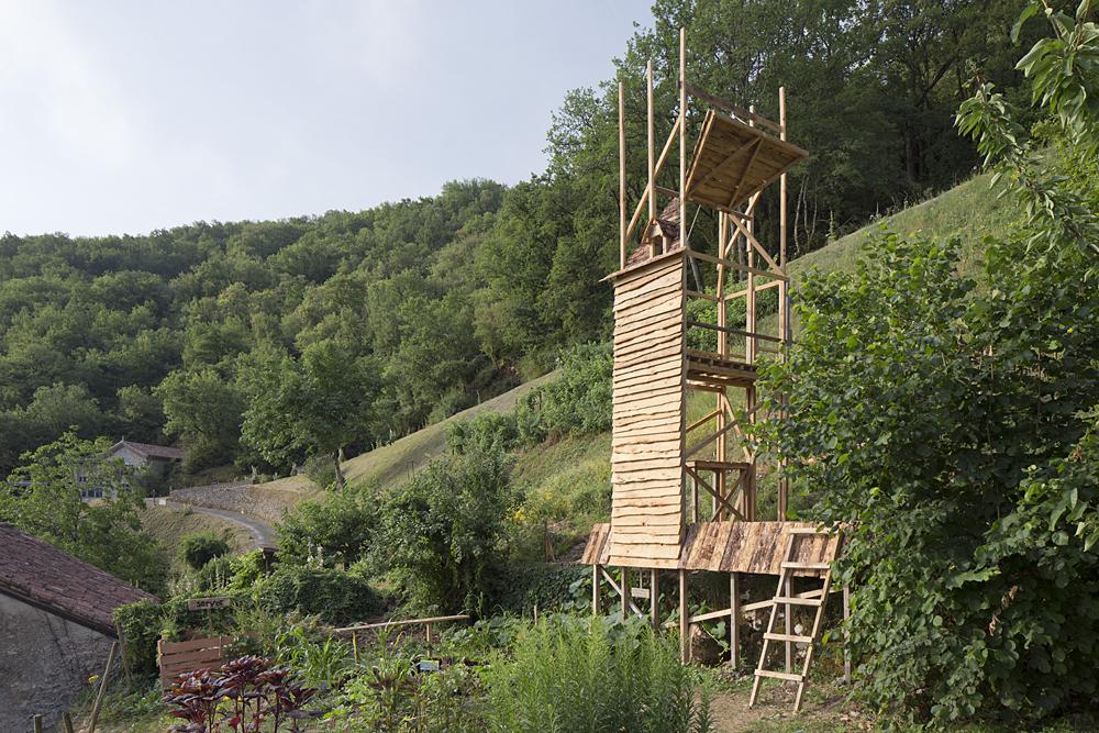 La tour de la pensée, jardins des maisons Daura
