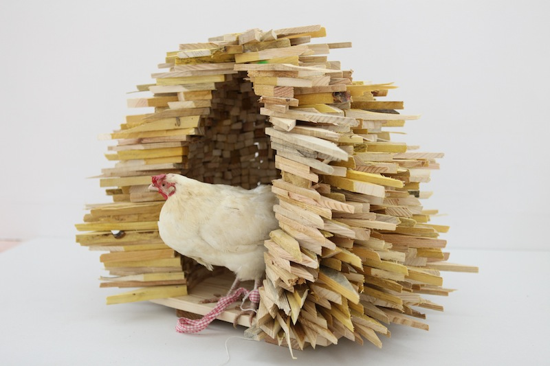 Suzanne Husky, High-Tech-Low-Energy Solution, Sculpture, bois, 2012 Photographie de Suzanne Husky Courtesy de l'artiste.