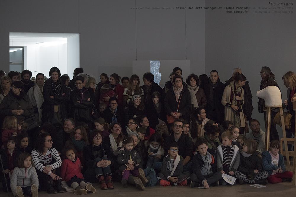 """""""Los amigos""""une exposition présentée par la Maison des Arts Georges et Claude Pompidou, du 18 février au 27 mai 2018Galerie Bien, Marie Denis, Documentation Céline Duval, Célie Falières, Élise Florenty, Lise Lacombe, Emmanuel Lagarrigue, Ahr"""