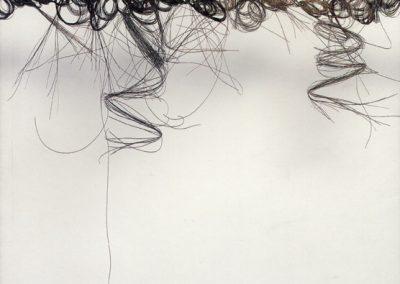 Pierrette BLOCH, Sculptures et dessins de crin, collage 1968-1998