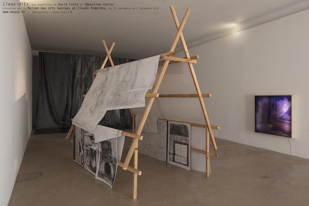 « Lieux-Dits », une exposition de David Coste et Sébastien Vonier à la Maison des Arts Georges et Claude Pompidou, du 30 septembre au 9 décembre 2018. (Photographie : Yohann Gozard ©)