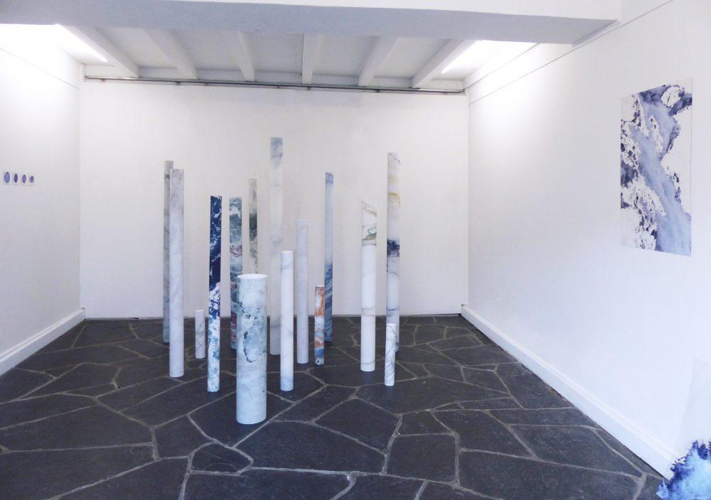 Lyse Fournier. Vue de l'exposition Fugit, , La Galerie du Second Jeudi, Bayonne. 2017.