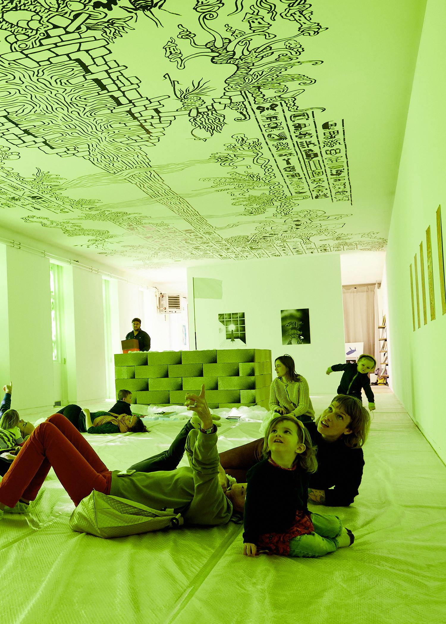 exposition planete B, atelier pour les petits enfants