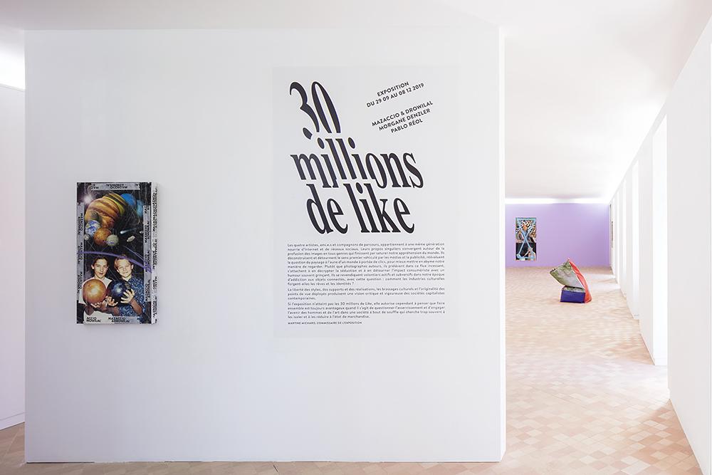 """""""30 millions de like"""" une exposition de Mazaccio & Drowilal, Morgane Denzler et Pablo Réol, présentée par la Maison des Arts Georges et Claude Pompidou, du 29.09 au 08.12.2019. www.magcp.fr Photo ©Yohann Gozard"""