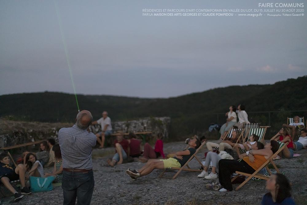 Soirée Observation des étoiles avec Jean Rippert, en lien avec Nos récits n'ont pas de prix, installation de François Martig.