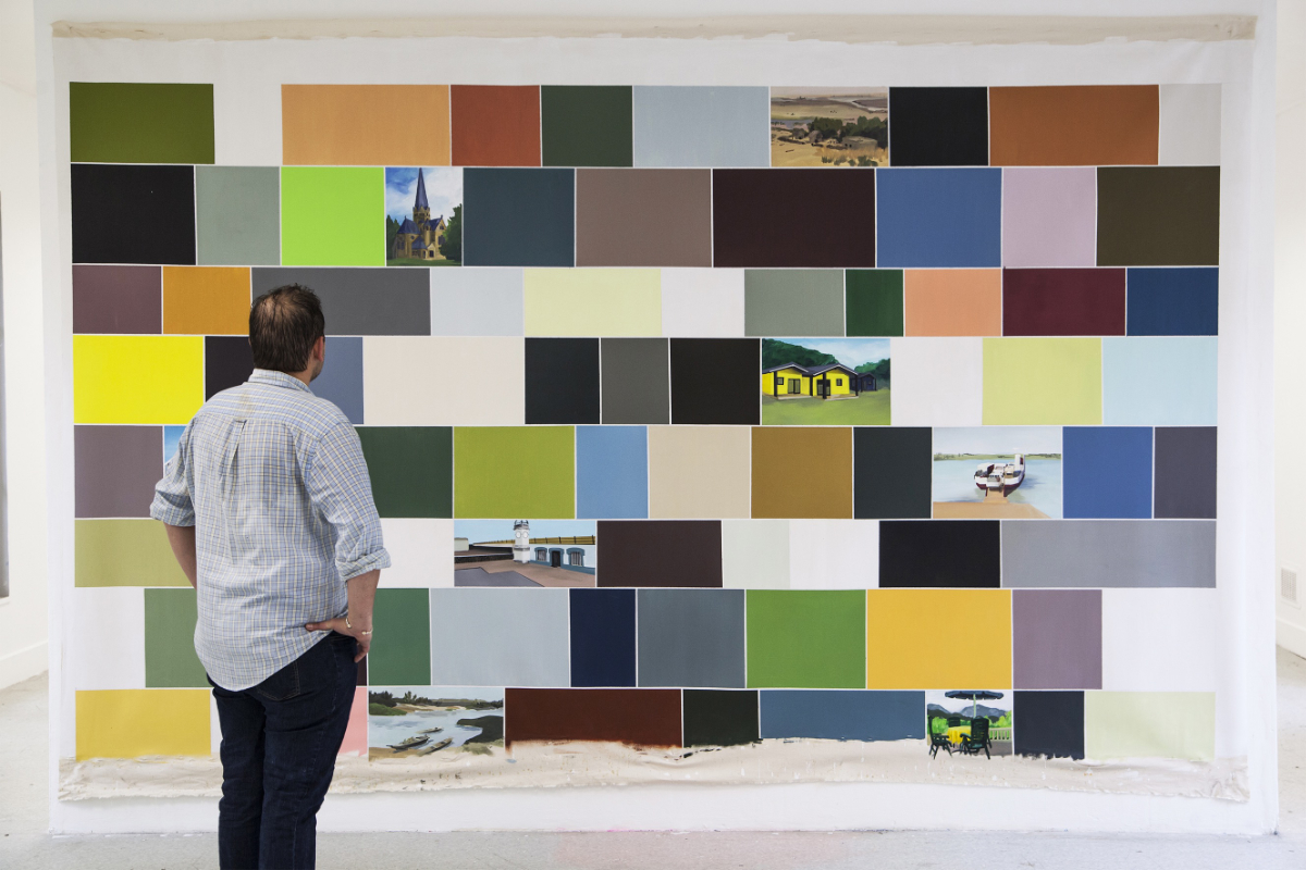 """Cassandre Cecchella, """"Jumelage Juvisy sur Orge - Thale - Tillabéri"""", Série """"Google peinture"""", 2018, Courtesy de l'artiste"""
