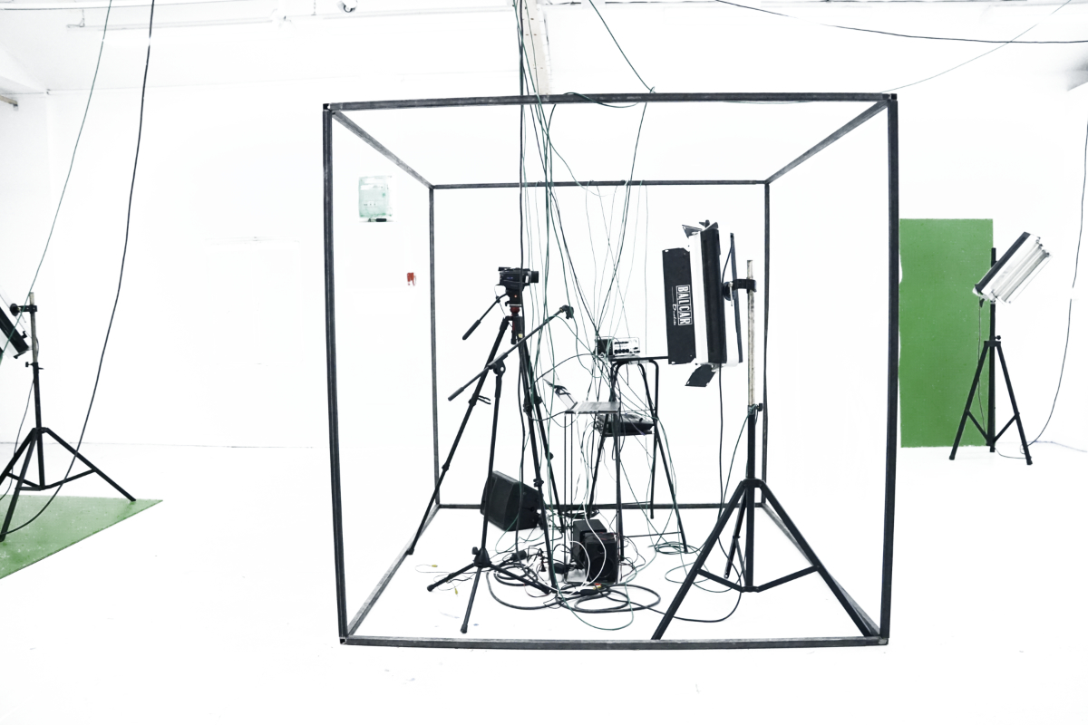 "Clémentine Poirier, ""Technosphere step space"", 2018, installation multimédia, performance, MO.CO.ESBA Montpellier. Courtesy de l'artiste"