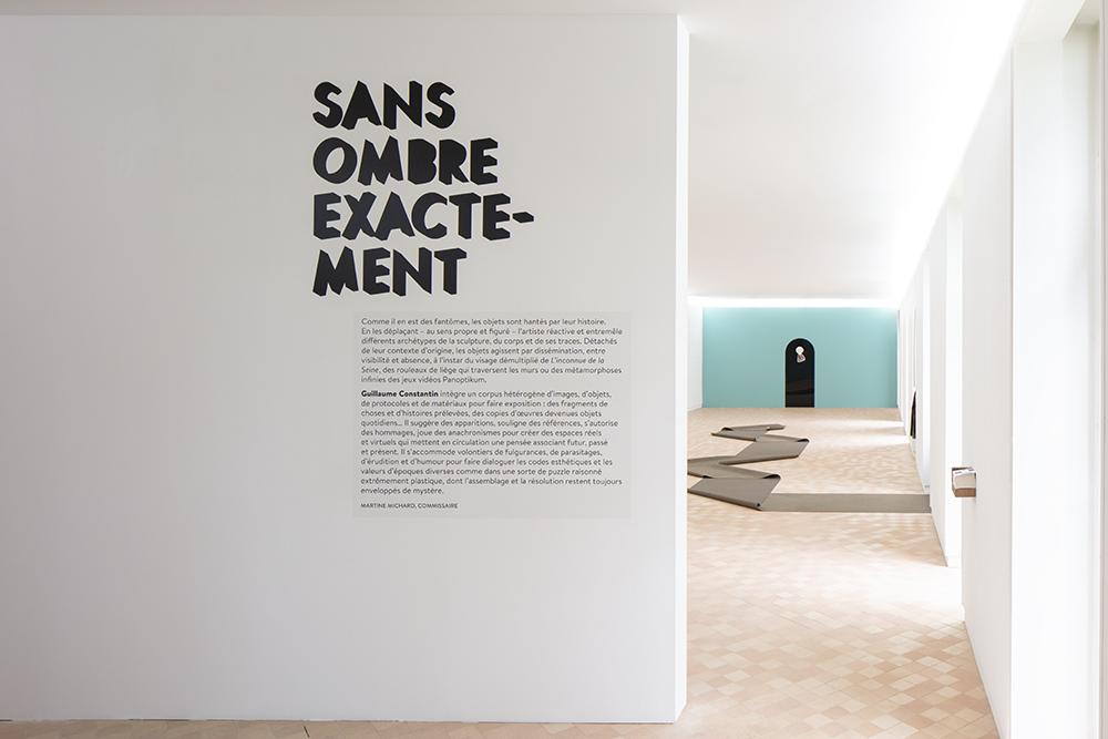 """Vue de l'exposition """"Sans ombre exactement"""", Guillaume Constantin, Maison des Arts Georges et Claude Pompidou, 2020. Photo © Yohann Gozard."""